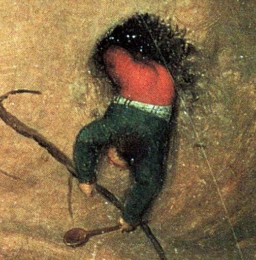 Ankunft im Schlaraffenland. Ausschnitt aus dem Gemälde von Brueghel, dem Älteren. Foto: Wikipedia
