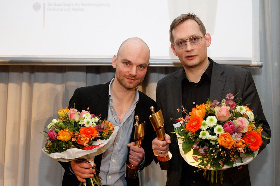 Drehbuchpreisträger Thomas Stuber und Clemens Meyer © Christine Kisorsy